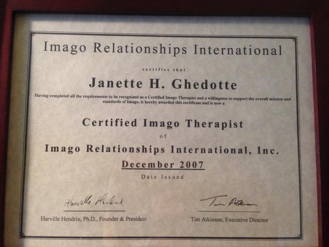 Certified Imago Relationship Therapist