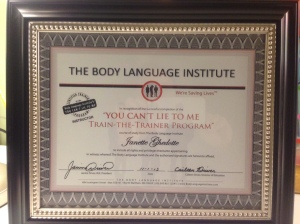"The Body Institute: ""You Can't Lie to Me: Train-the-Trainer Program"""