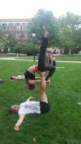 Trish Yoga on Lawn 5
