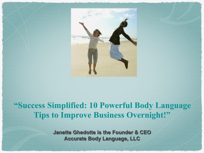 Success Simplified...Improve Business Overnight