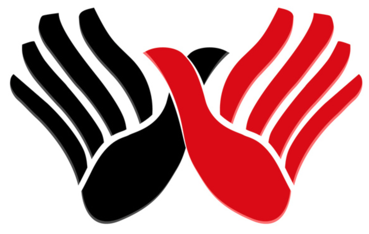 Albania Flag With Hands